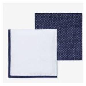 Men's Polka Dot Two Pocket Square Set